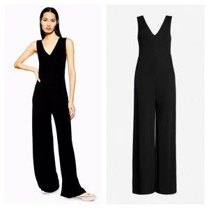 NWT Topshop Boutique Black Jumpsuit Wide Leg 6